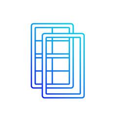 Storm windows linear icon vector