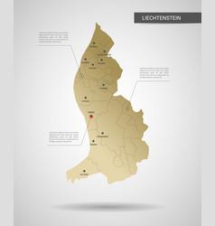 stylized liechtenstein map vector image