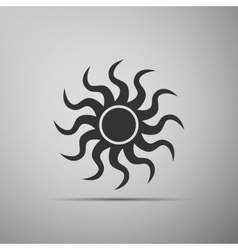 Sun-sign icon on grey background vector image