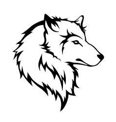 Tribal wolf vector image