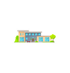 two-storied villa or cottage house isolated icon vector image
