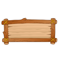 Wooden board theme image 1 vector