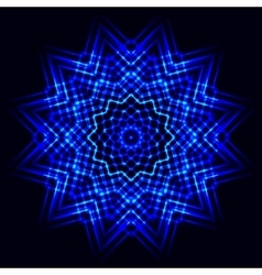 Abstract cosmic star snowflake vector image