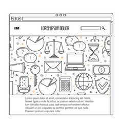 business ux template vector image