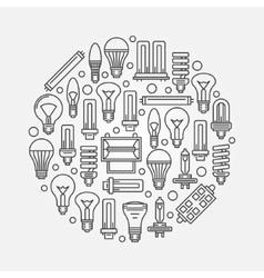 Light bulbs linear vector image vector image