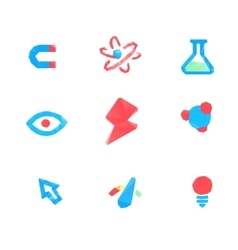 Lowpoly tech and science icons vector image vector image