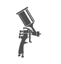 Spray gun icon vector