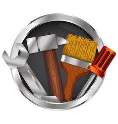 symbol for repair with tool vector image vector image