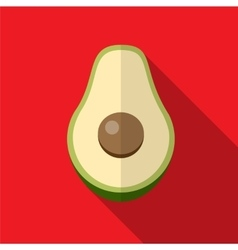 Avocado flat icon vector image vector image