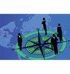 compass figure vector image vector image