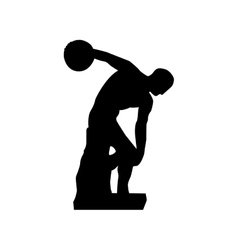 discus thrower or discobolus sculpture icon image vector image
