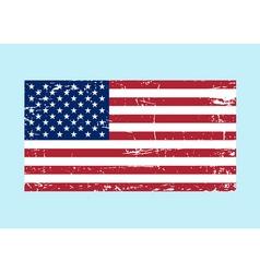 Flag USA sign Grunge National symbol freedom vector image