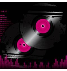 grunge vinyl vector image vector image