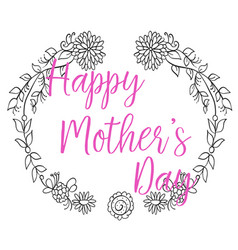 happy mother day frame collection vector image