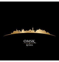 Omsk russia city skyline silhouette vector