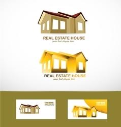 Real estate house logo icon vector