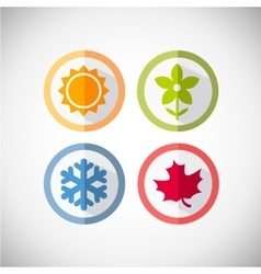seasons icons vector image vector image