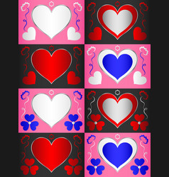 Template with a heart-shaped area for text that vector