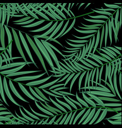 beautifil palm tree leaf silhouette seamles vector image vector image