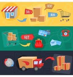 Design concept of e-commerce vector image vector image