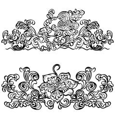 design ornament floral motifs vector image