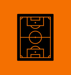 Icon of aerial view soccer field vector