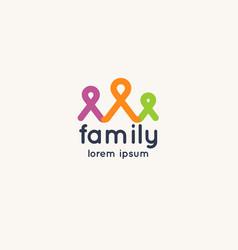 logo family and social solidarity vector image
