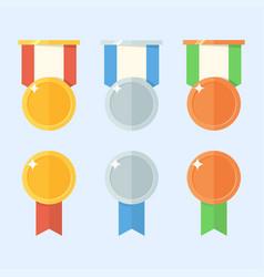 medal set vector image vector image
