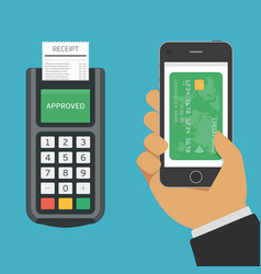 mobile payments using smartphone vector image vector image