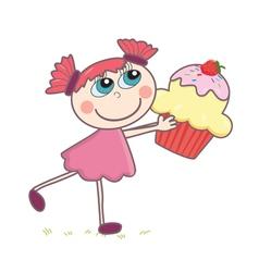 Cupcake Girl vector image