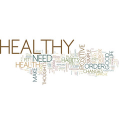 good healthy habits text background word cloud vector image vector image