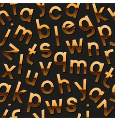 Seamless pattern with golden alphabet vector image