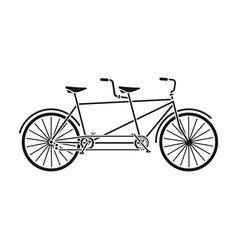 tandem bikepleasure bicycle for two double vector image