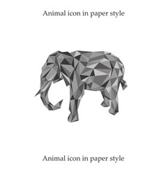 a elephant in paper style vector image