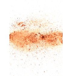 abstract brown color watercolor splash on paper vector image