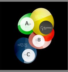 Abstract circles on black vector