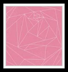 Abstract Geometric polygonal pink rose vector