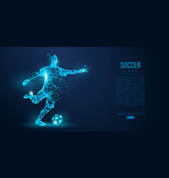 abstract soccer player footballer blue background vector image