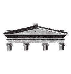 Acroterium plinth vintage engraving vector