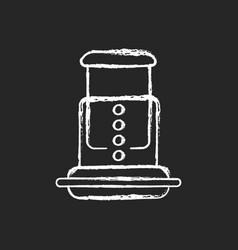 Air pressure coffee plunger chalk white icon vector