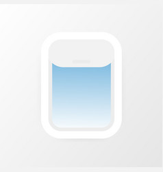 aircraft airplane windows with cloudy blue sky vector image