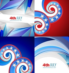 American flag abstract background with creative vector