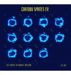 Animation frames or liquid loop sprites vector image