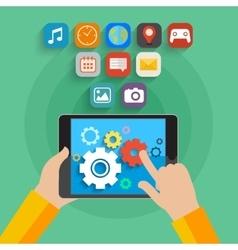 App development concept vector