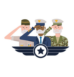 army forces men design vector image