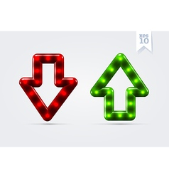 Arrows up and down icons vector