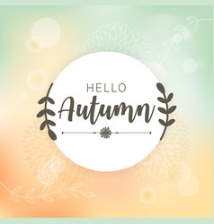 Autumn bokeh background falling leaves vector
