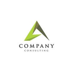 best letter a logo concept vector image vector image