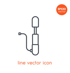 Bicycle pump icon on white in linear style vector