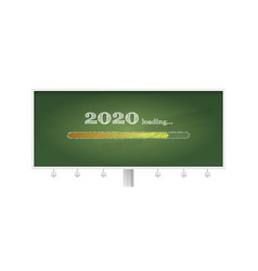 billboard with school green chalkboard and vector image